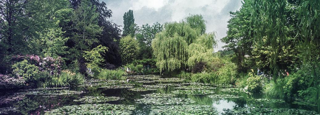 Der Rosengarten von Claude Monet